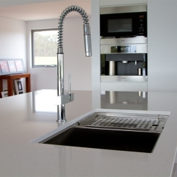 kitchen sink with marble