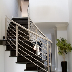 elegant staircase made from granite